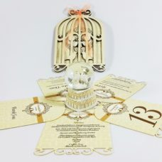 Wooden Invitations Lovely Knot
