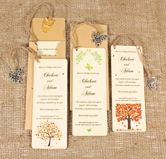 3302 bookmark wedding invitations lovely knot custom wedding